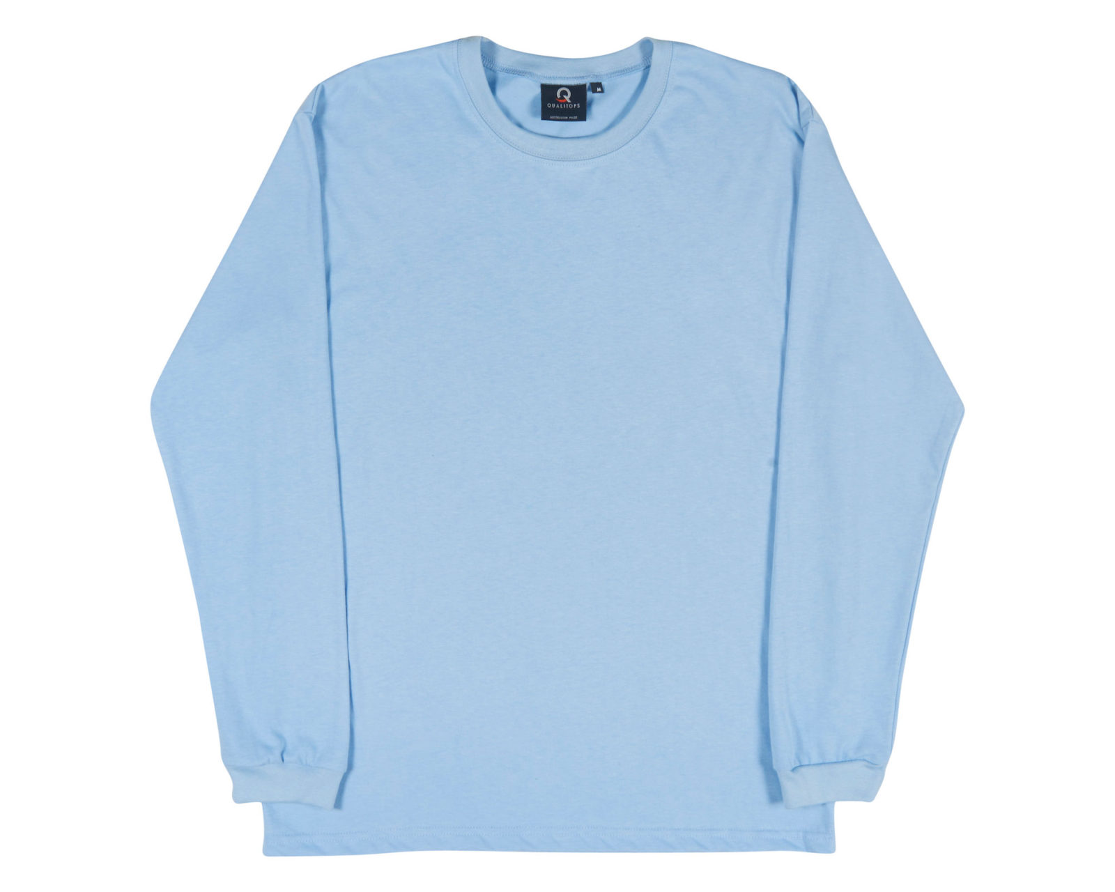 Qualitops Mens Long Sleeve Tee Cotton Australian made clothing