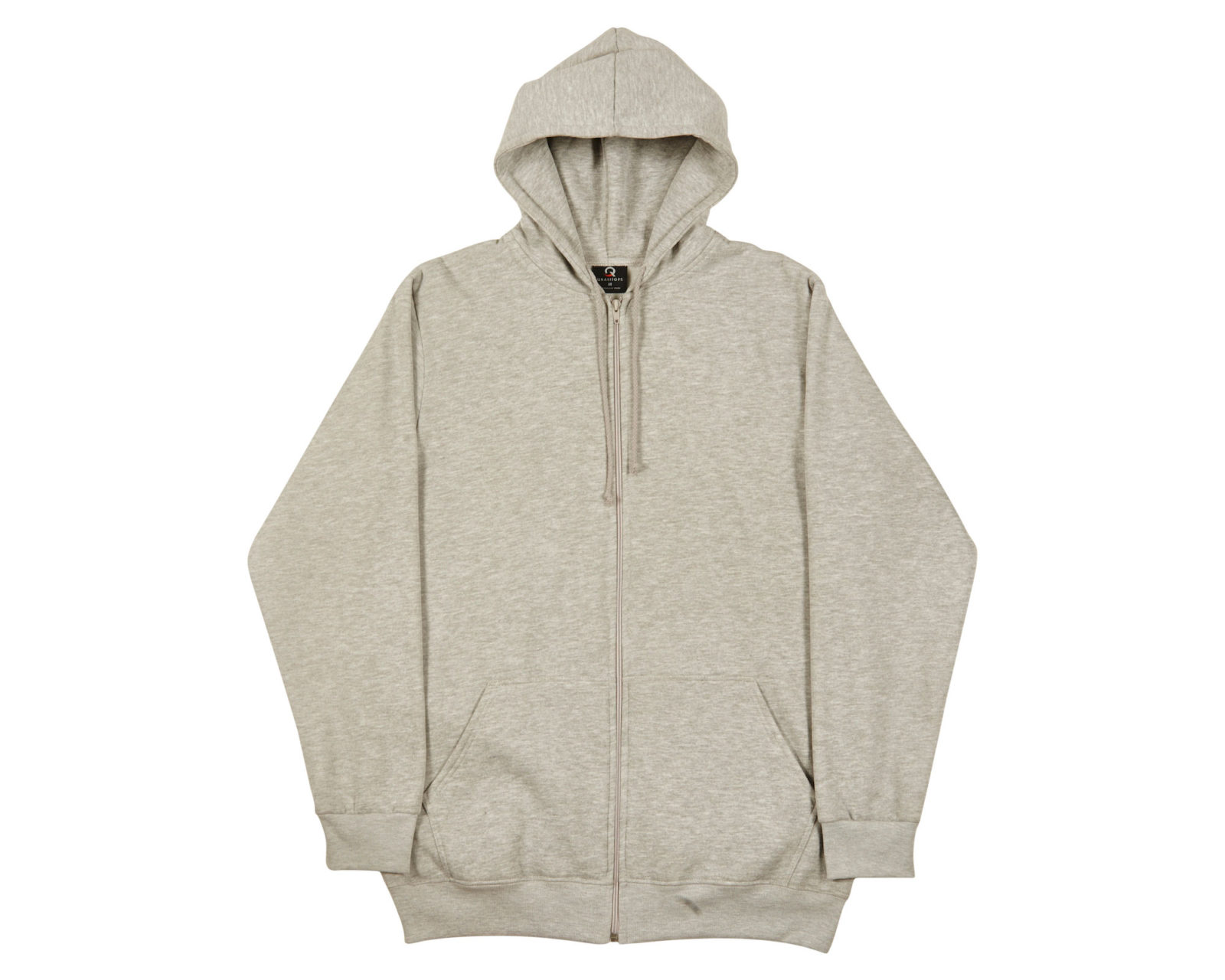 Qualitops Mens Tall Zip Hoodie Polycotton Australian made clothing