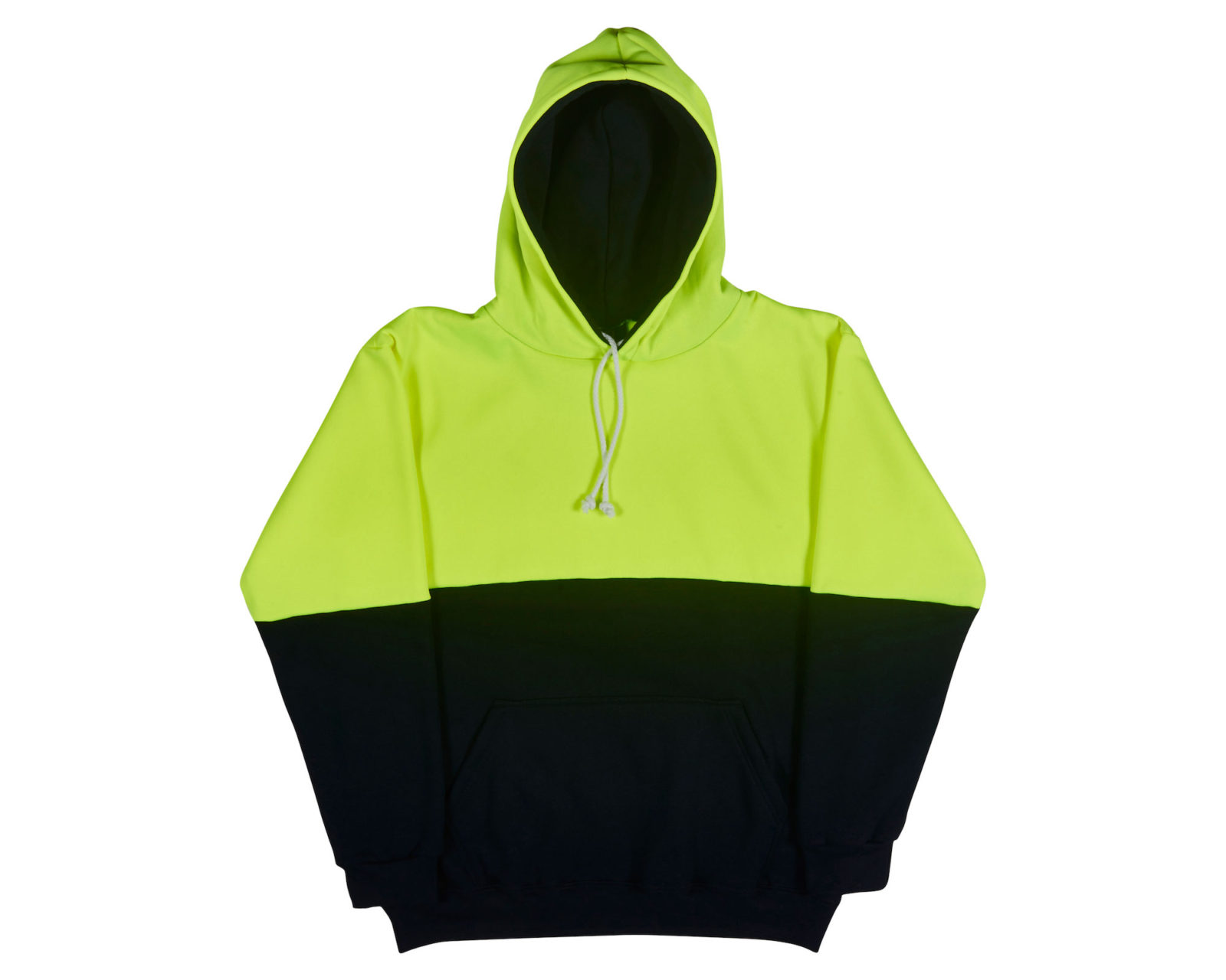 Qualitops Mens Hi Vis Two Tone Hoodie Polycotton Australian made clothing