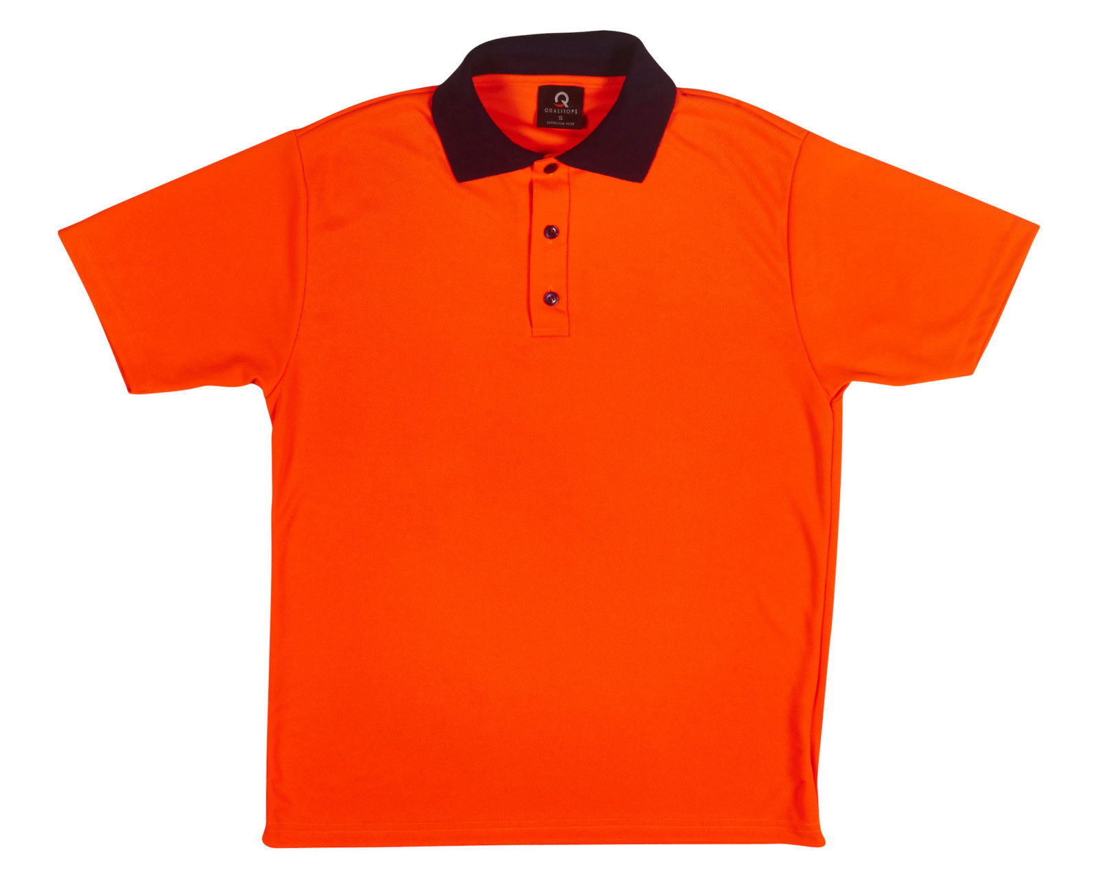 Qualitops Mens Short Sleeve Hi VIs Polo Polyester Australian made clothing