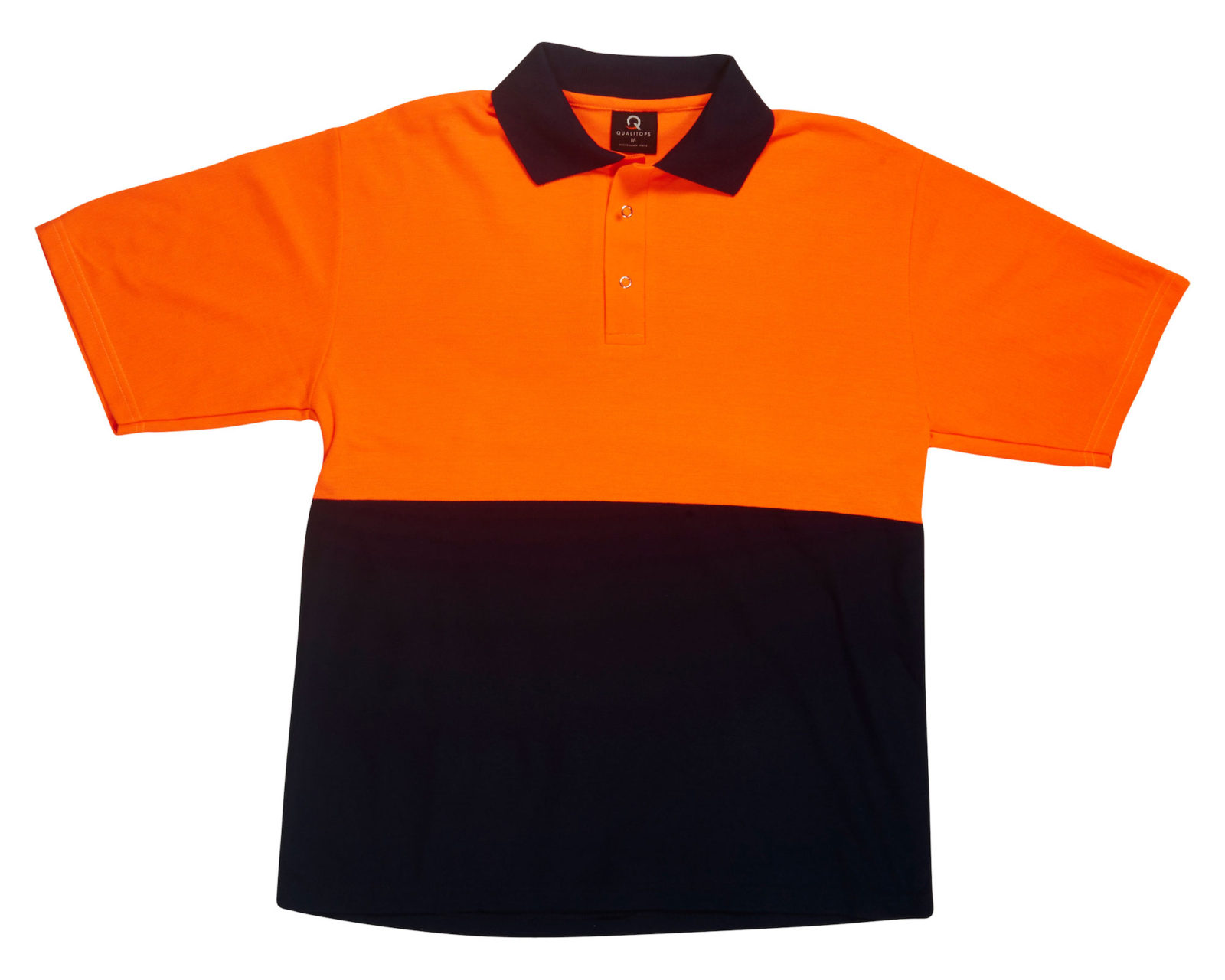 Qualitops Mens Short Sleeve Hi VIs Two Tone Polo Polycotton Australian made clothing