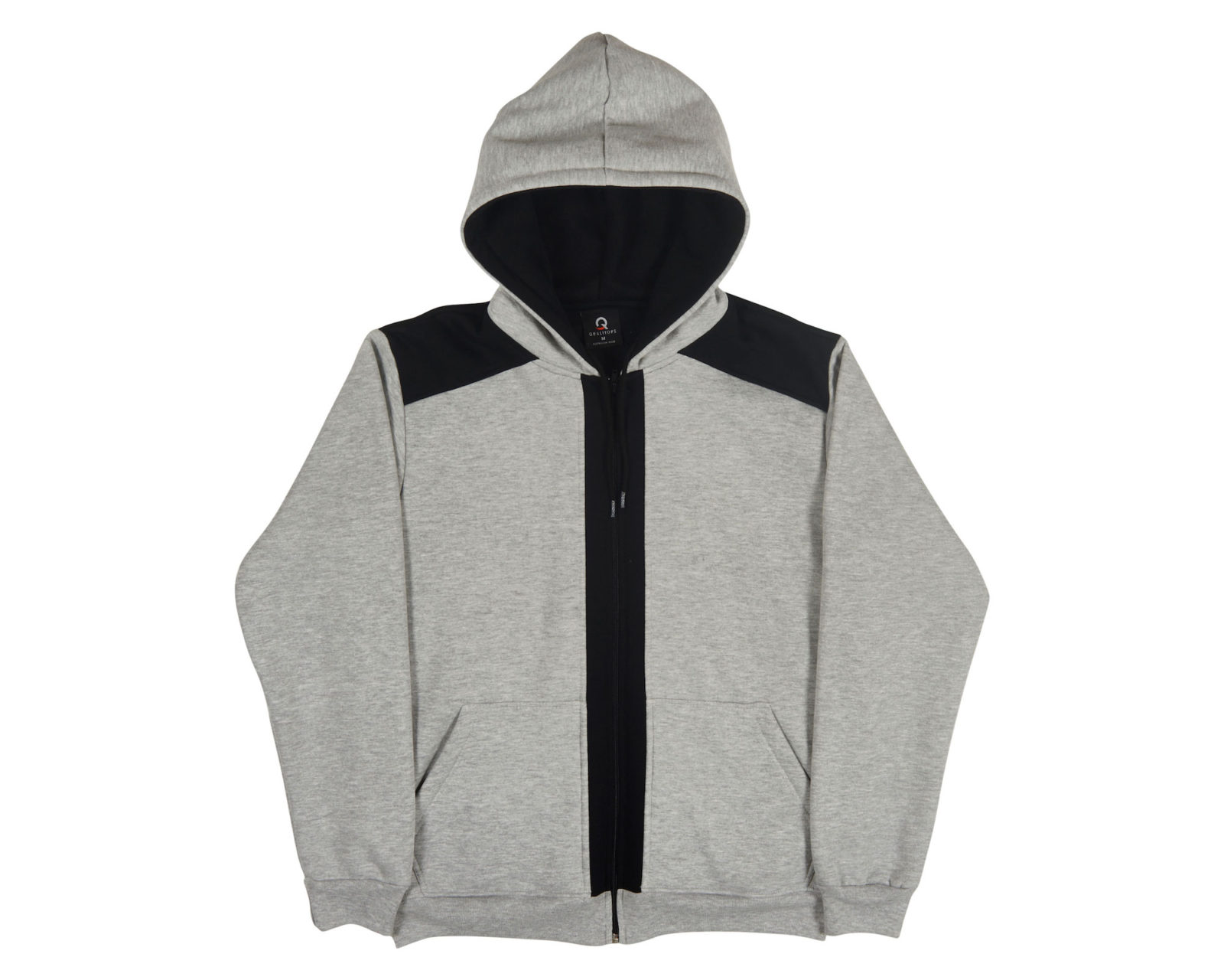 Qualitops Mens Two Tone Zip Hoodie Polycotton Australian made clothing