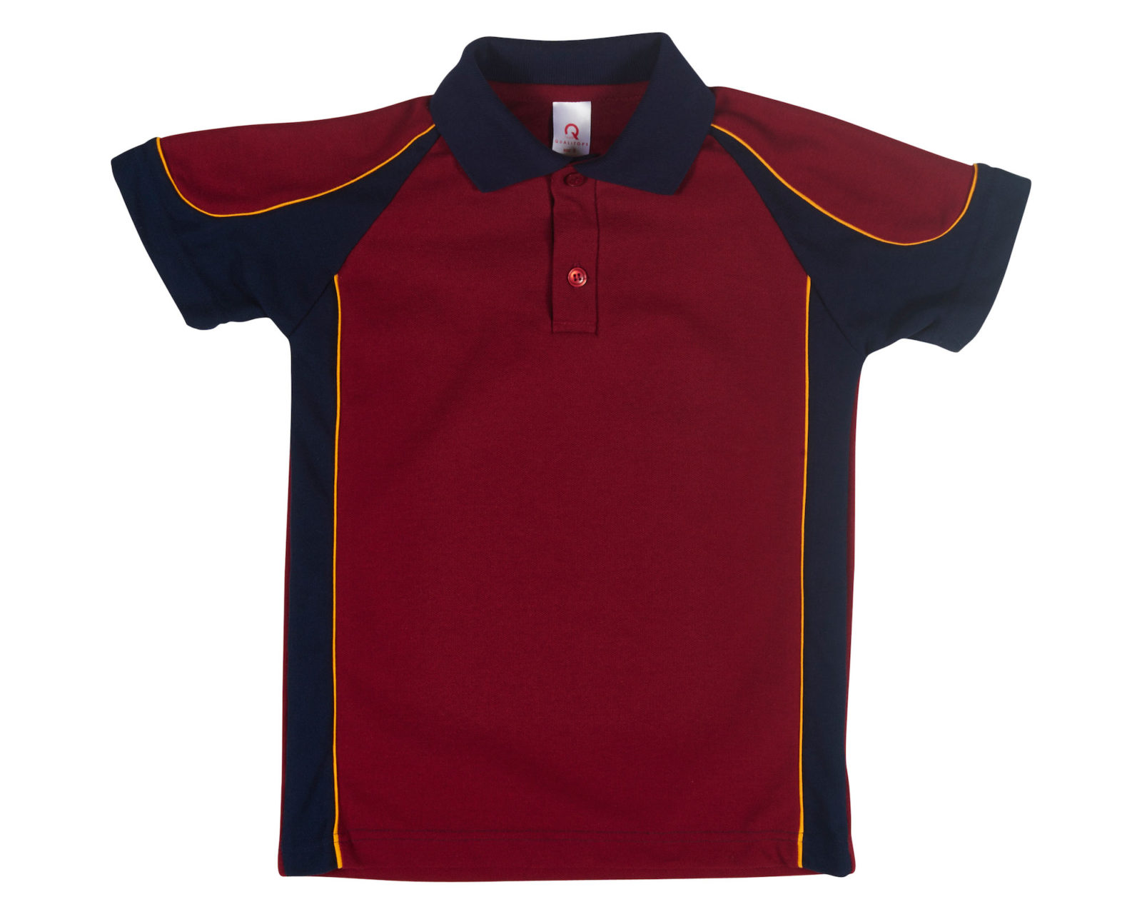 Qualitops Custom Made Kids Two Tone Short Sleeve Polo Polycotton Australian made clothing