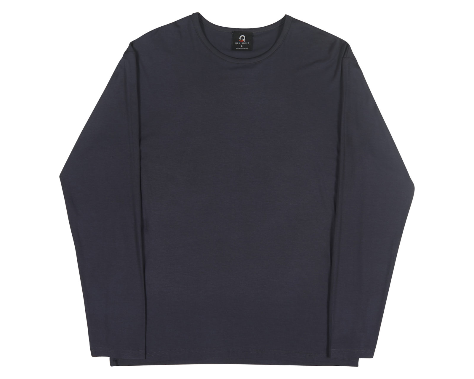 Qualitops Mens Long Sleeve Tee Bamboo Lycra Australian made clothing