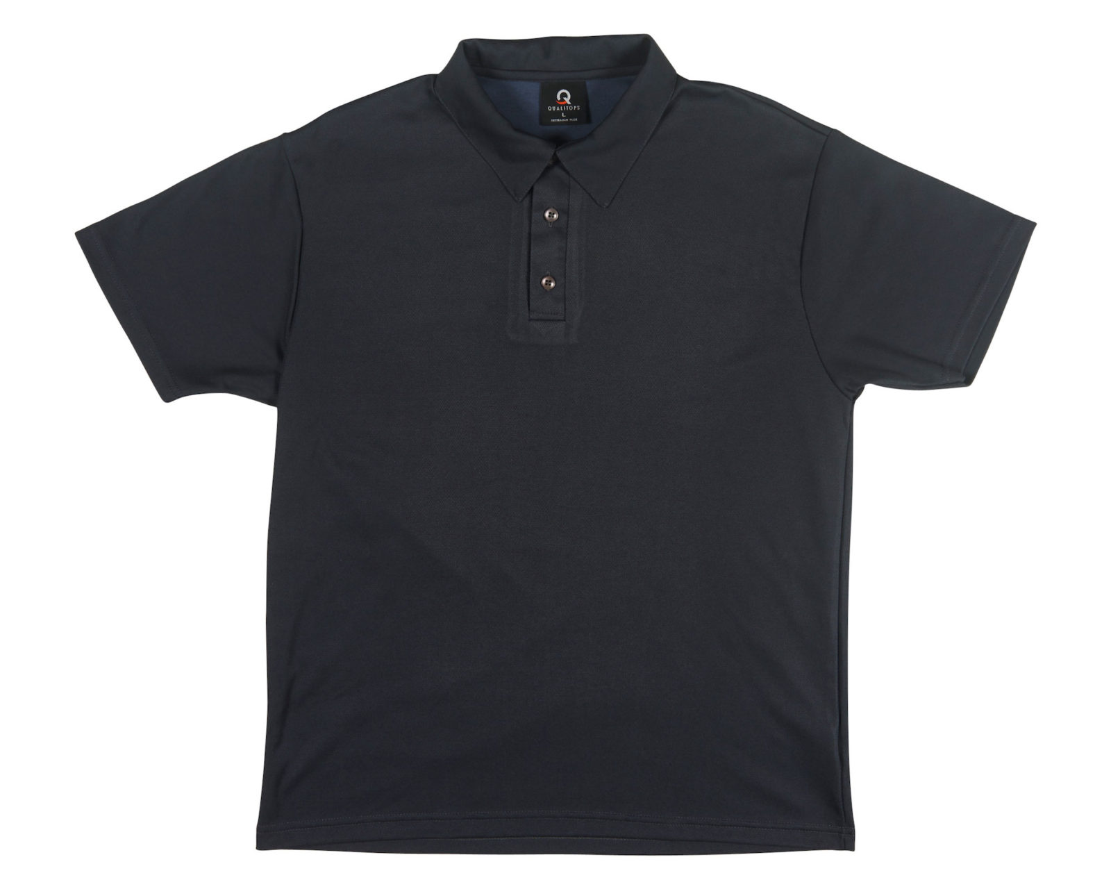 Qualitops Custom Made Mens Short Sleeve Polo Polyester Australian made clothing