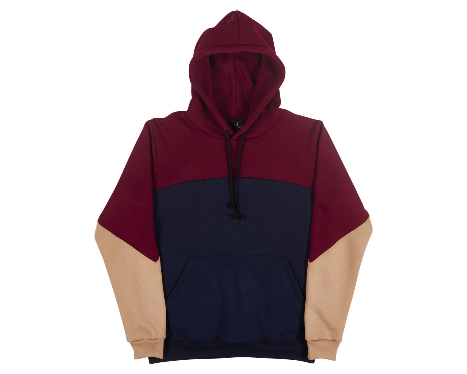 Mens Three Tone Hoodie 243 | Australian Made Tee | Qualitops