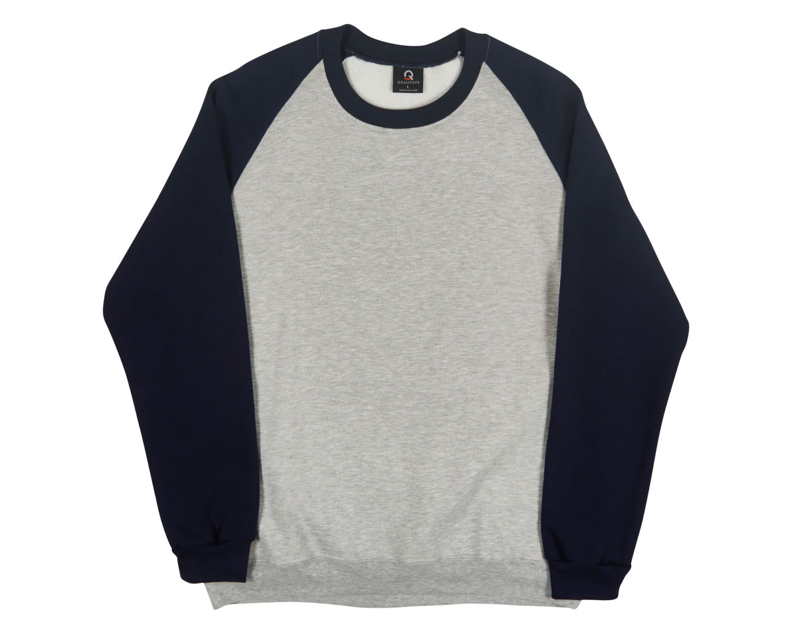 Qualitops Custom Made Mens Two Tone Raglan Sleeve Windcheater Polycotton Australian made clothing