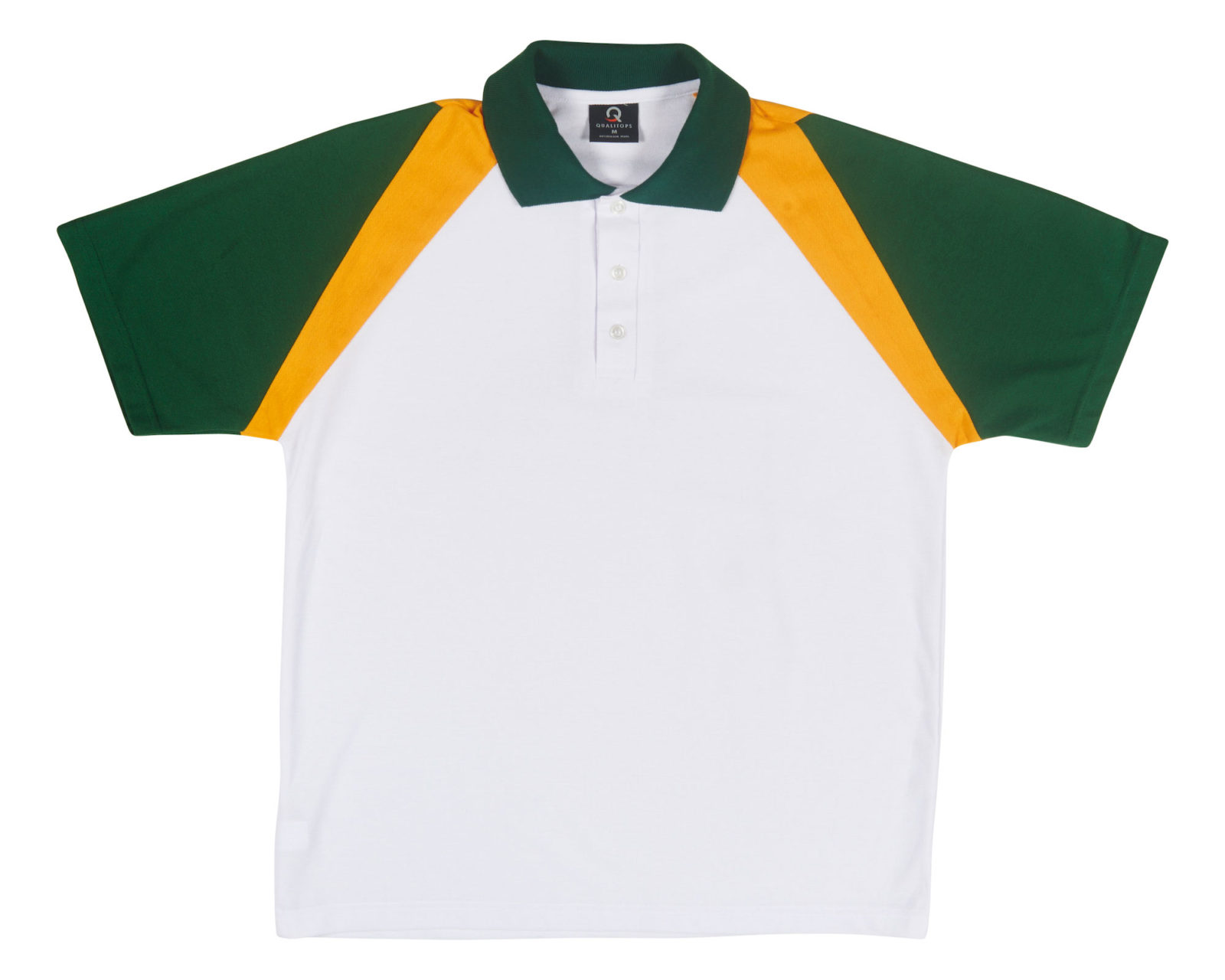 Qualitops Custom Made Mens Two Tone Short Sleeve Polo Polycotton Australian made clothing