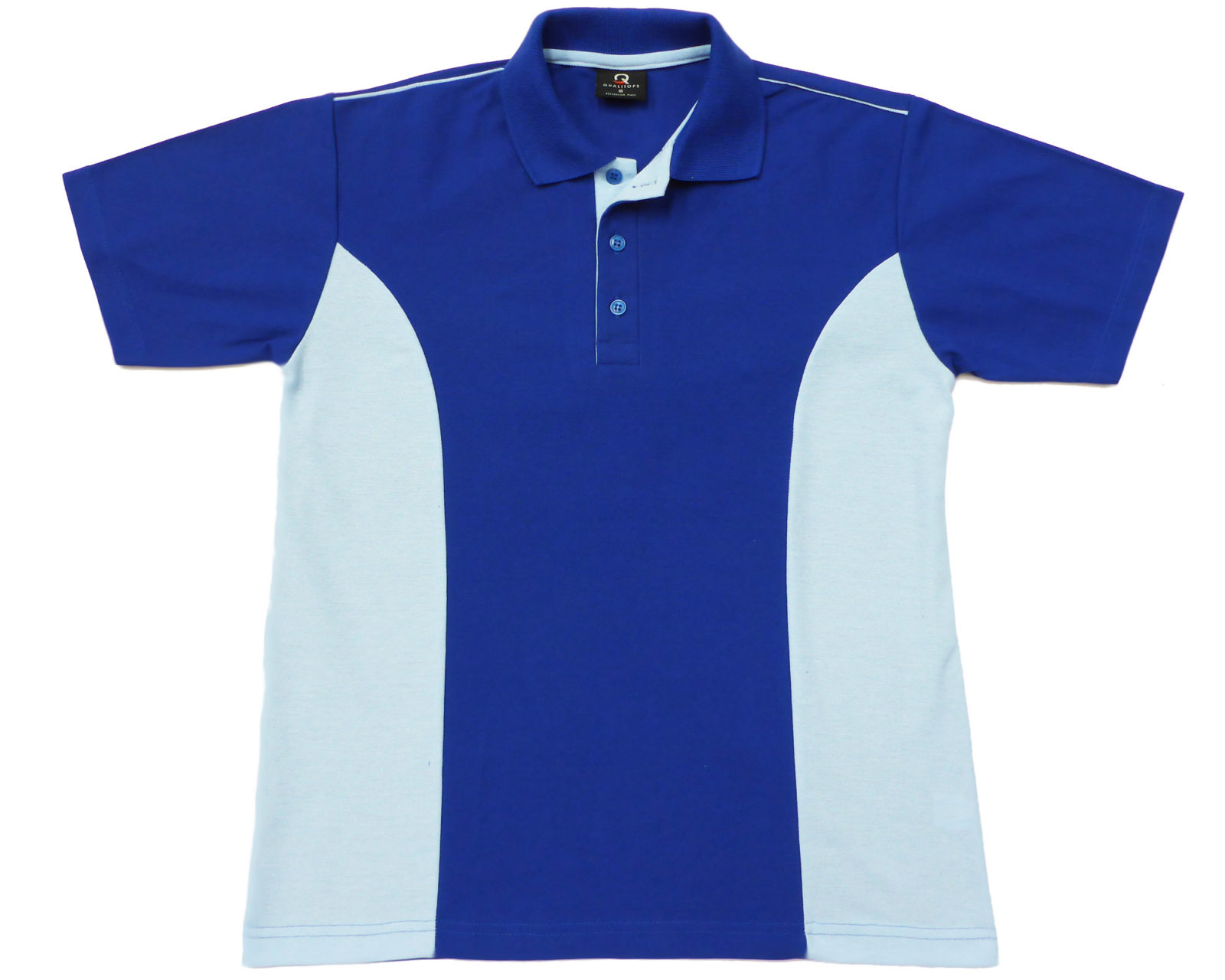Qualitops Mens Two Tone Short Sleeve Polo Polyester Australian made clothing