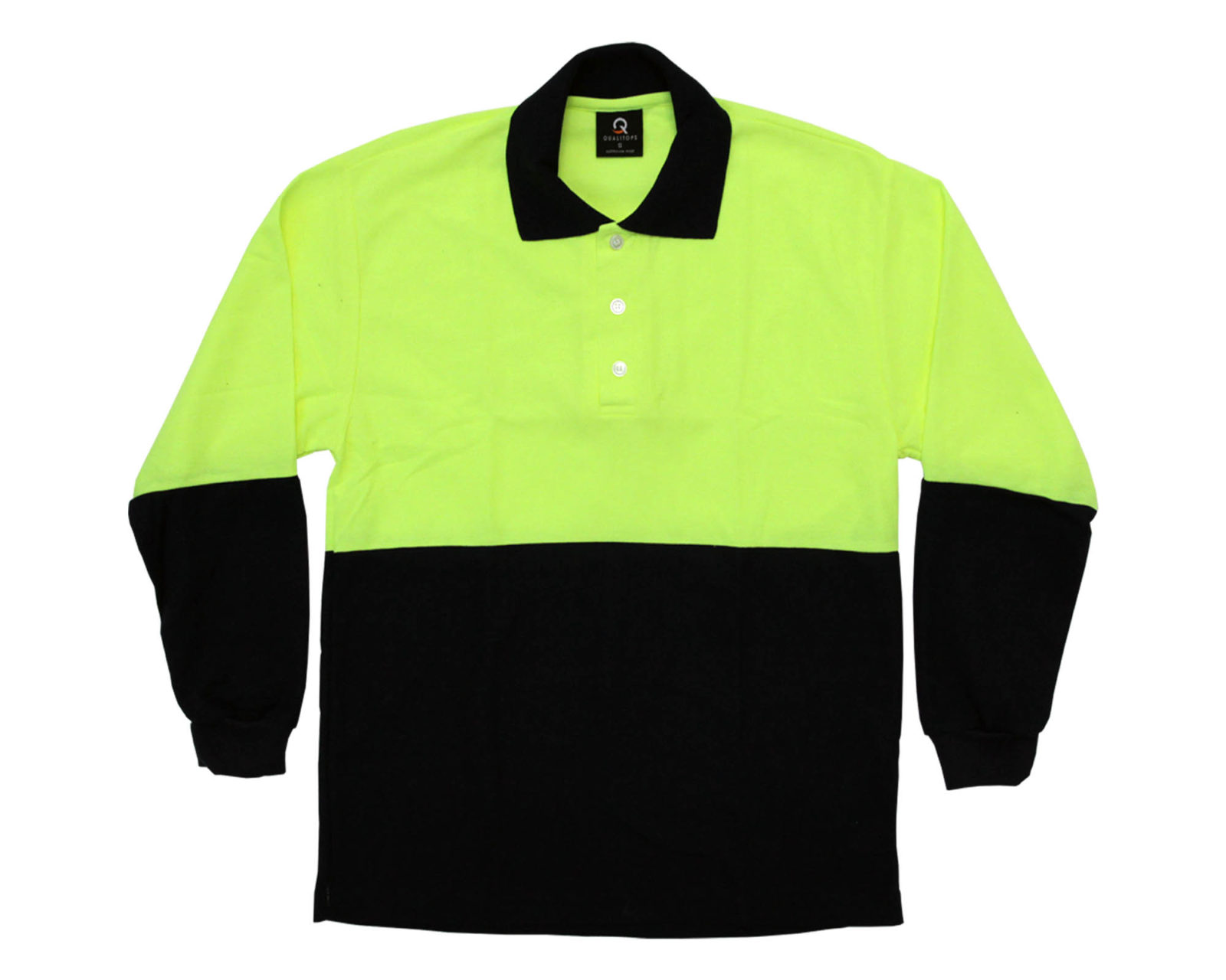 Men S Hi Vis L S Polo Australian Made Workwear Qualitops